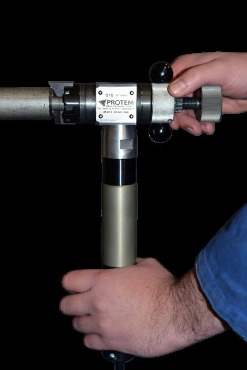 S18 - Rohrendanfasmaschine mit Druckluftantrieb
