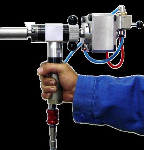 S18CA - Rohrendanfasmaschine mit Druckluftmotor mit autom. Spannsystem
